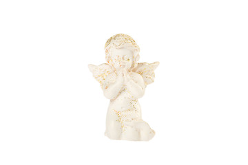White baby angel isolated on white
