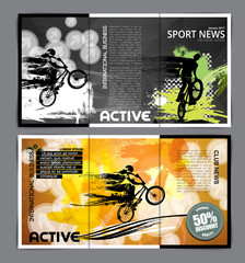 Fotobehang Graffiti collage Sport brochure layout