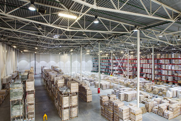 Huge distribution warehouse