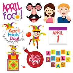 April Fools Day Illustrations