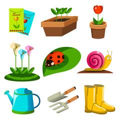 Spring Season Gardening Icons