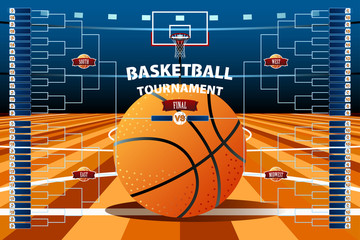Basketball Tournament Bracket Template
