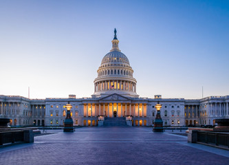 Photo sur Plexiglas Lieux connus d Amérique United States Capitol Building at sunset - Washington, DC, USA