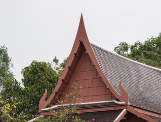 A house in Thai style that still are in the countryside