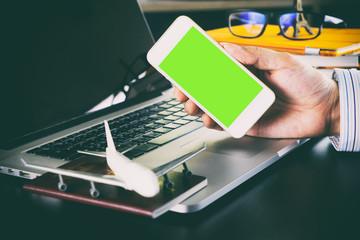 business world communication application on smartphone