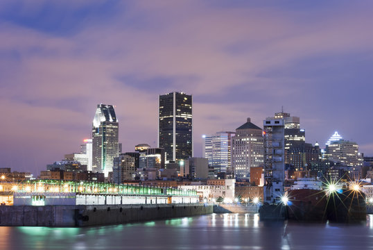 Montreal Downtown as Seen from Old Port