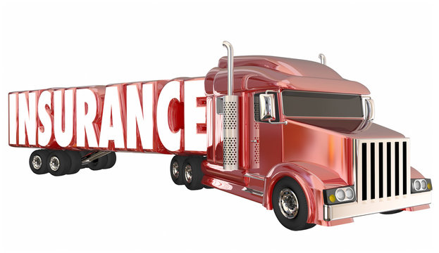 Insurance Trucking Policy Driver Freight Coverage 3d Illustratio