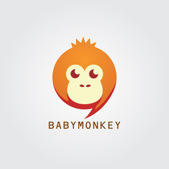 baby orange monkey logo