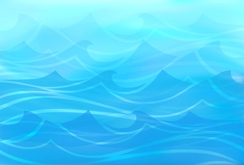 Beautiful blue background of stylized waves