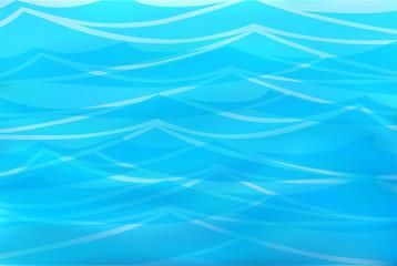 Beautiful blue background of stylized waves