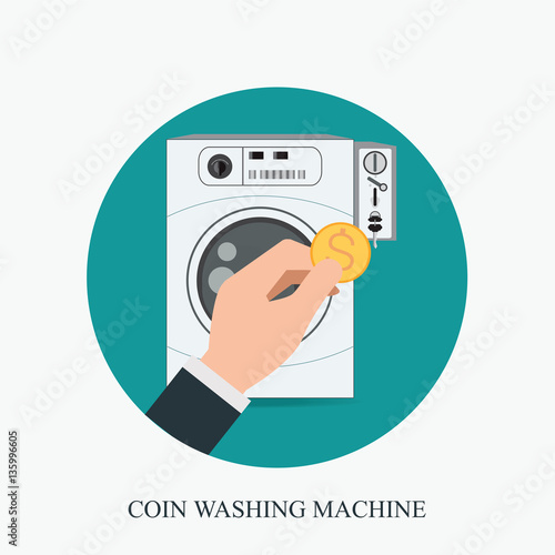 washing machine with coin