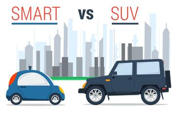 Smart car vs SUV