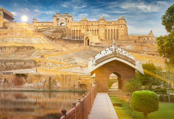 Türaufkleber Befestigung Amer Fort is located in Amer, Rajasthan, India.