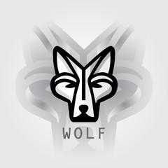 head wolf logo
