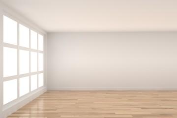 empty room with light interior in 3D rendering