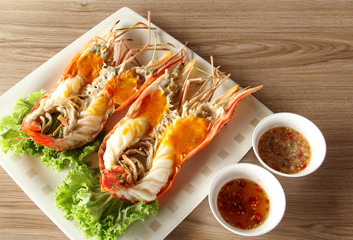 Grilled Giant River Prawn