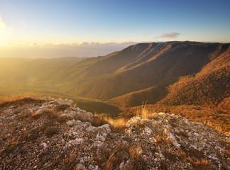 Printed kitchen splashbacks Cappuccino Mountain autumn nature landscape.