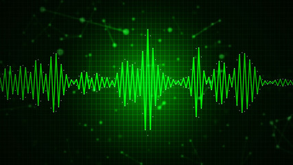 Audio spectrum waveform abstract graphic display