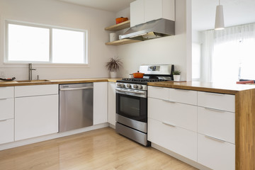 Modern Kitchen Wood Countertop