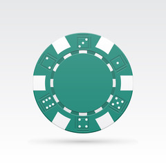 Green casino chips.