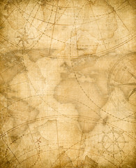 aged pirates treasure map background