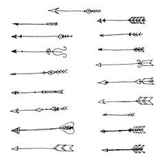 set of arrow painted hands
