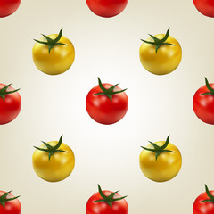 Seamless background of tomato, vector illustration.