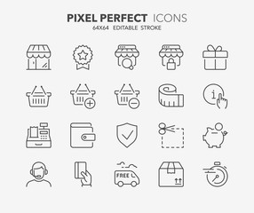 shopping thin line icons 2