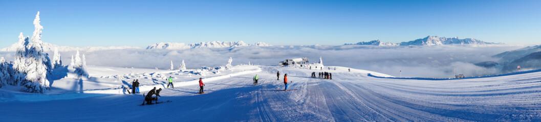 Ski lift in Austria
