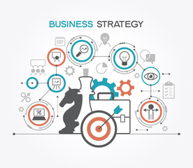 Business strategy. Infographic template. Modern flat design concept for web banners, web sites. The file is saved in the version AI10 EPS.