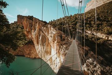 A bridge over the Mont-Rebei Canyon, Lleida, Spain