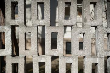 Steinmauer mit quadratischen Steinen