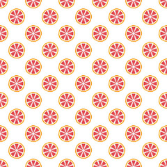 Colorful grapefruit pattern