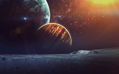 Fond de hotte en verre imprimé Univers Cosmic art, science fiction wallpaper. Beauty of deep space. Billions of galaxies in the universe. Elements of this image furnished by NASA