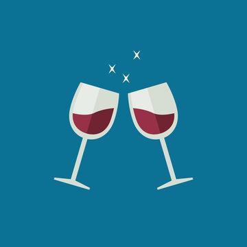 Clink wine glasses