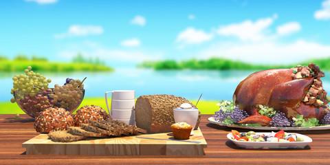 Food set outdoor