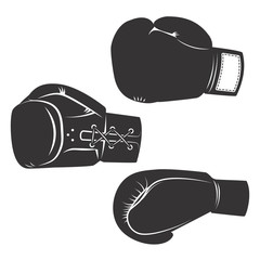 Set of  the boxing gloves icons isolated on white background. De
