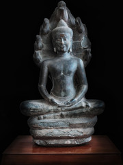Buddha statue in black