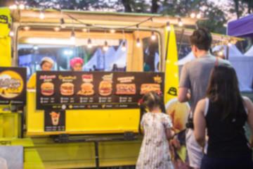 Food Truck Festival Blurred On Purpose