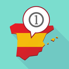 Map of Spain with  a coin icon
