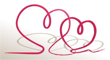 Valentines love hearts
