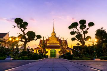 The iconic inside Wat Arun in Bangkok, Thailand.