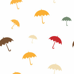 seamless pattern with umbrellas for your design