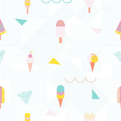 Ice cream creative pattern.