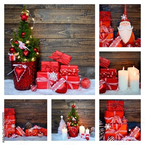weihnachten collage gru karte weihnachtsbaum und. Black Bedroom Furniture Sets. Home Design Ideas