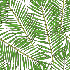 Floral seamless pattern. Collection with tropical leafs in sketch style.