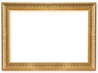 old frame gold isolated