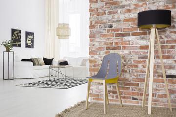 Trendy loft with brick wall