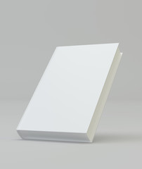 Blank book cover template for mockup. 3d rendering