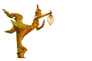 Lamps of a Kinnari Thai style.